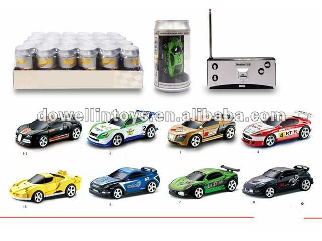 2012 perfect christmas gift!!!7.5cm 4ch mini rc car with cola can packing