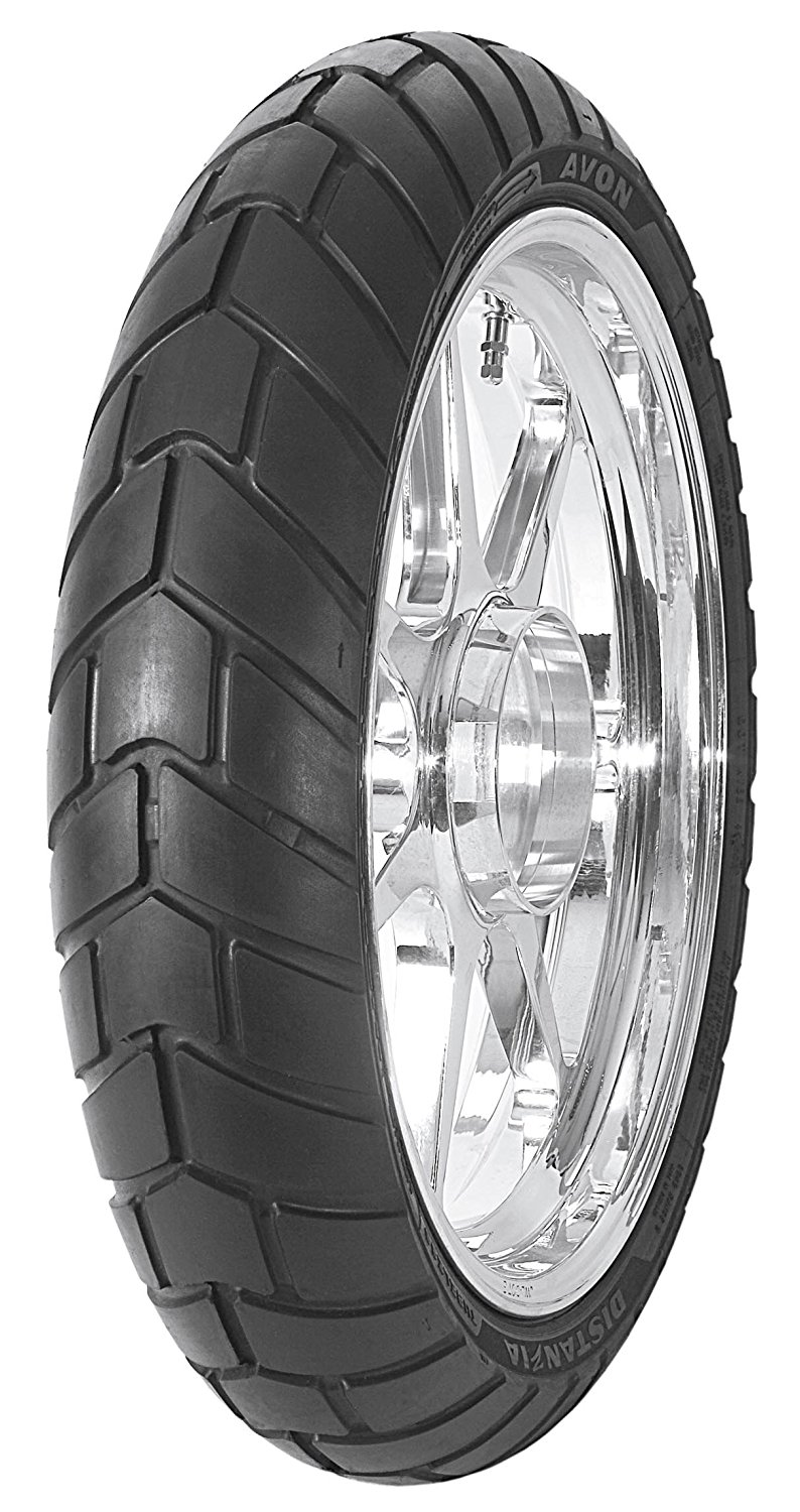 Avon Tyres Distanzia AM43 Tire - Front - 110/80-19 , Position: Front, Tire Construction: Radial, Tire Type: Dual Sport, Tire Size: 110/80-19, Rim Size: 19, Load Rating: 59, Speed Rating: H, Tire Application: All-Terrain 4077812