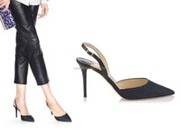 Sling Back Open Heel Dress Shoes Offfice Lady Pointed Toe High Heel Shoes Stiletto Women Shoes