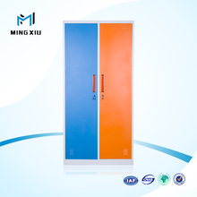 Mingxiu low price 2 door clothing steel wardrobe / steel wardrobe