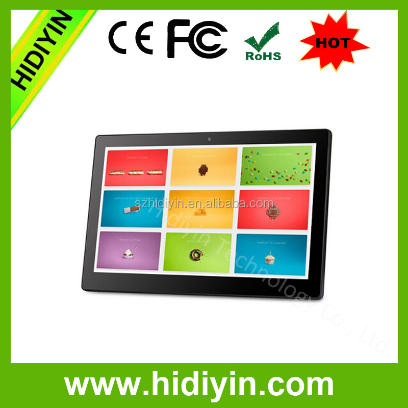 18.5'' Wifi Android six video download touch screen advertising all in one
