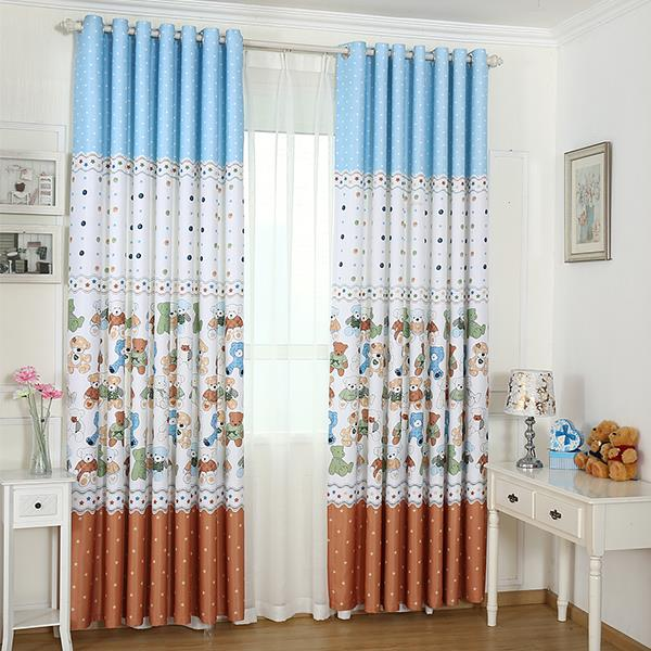 New arrival printed window blackout curtains for children - Childrens bedroom blackout curtains ...