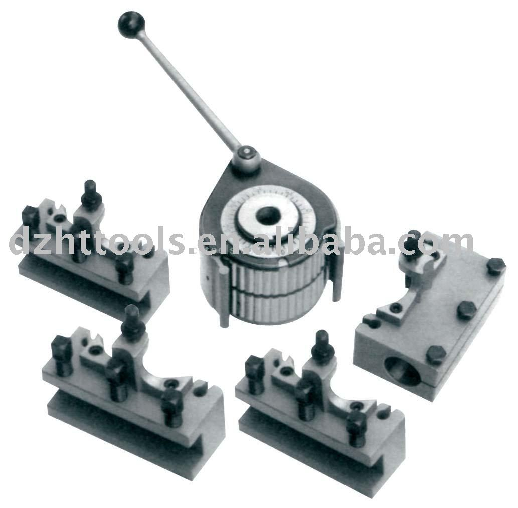 40-position quick change tool post and tool holders