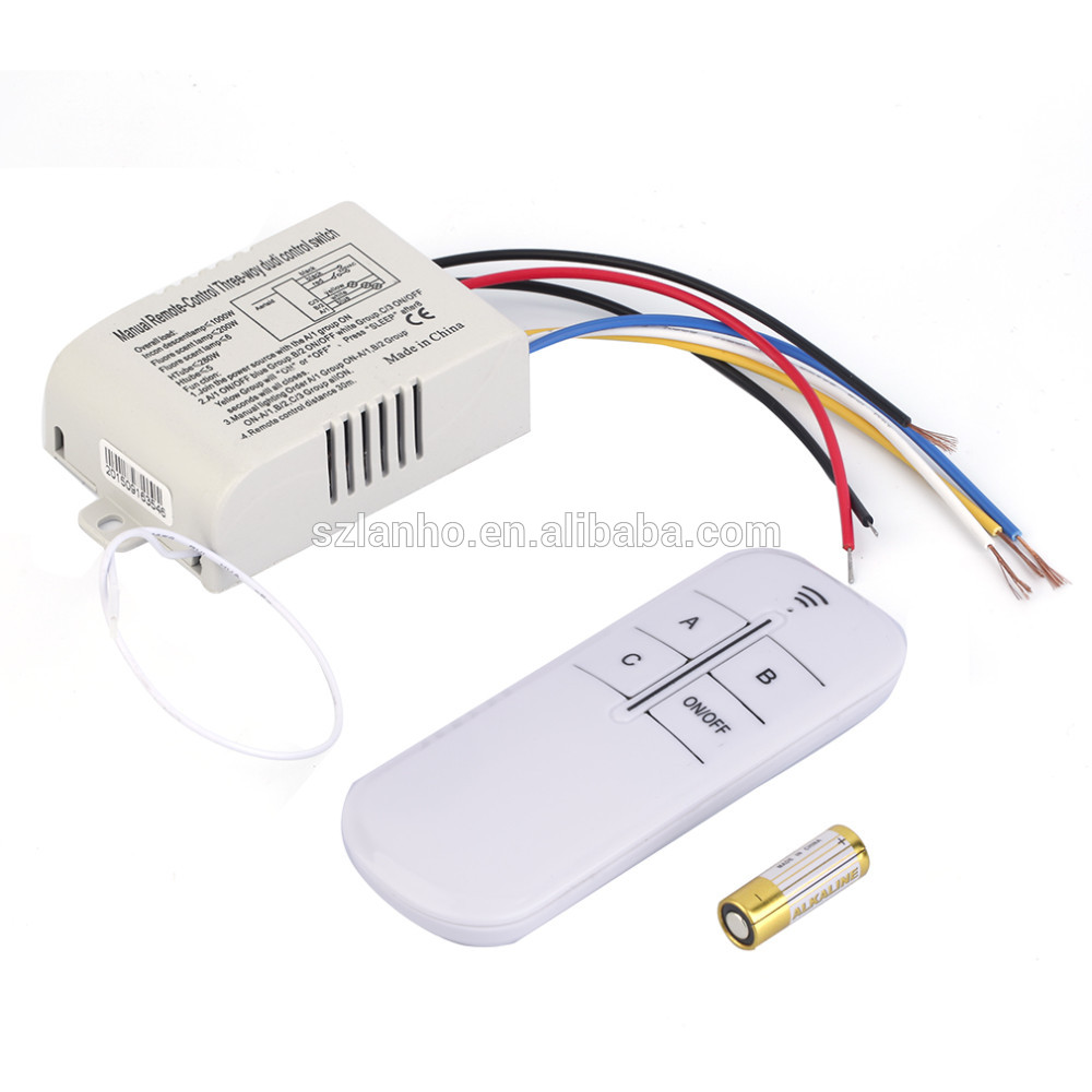 Yam Remote Control Switch Tipos De Cancer Kedsumr Wireless 1 Way On Off Digital 110v For 220v 3 Rf Light Lamp