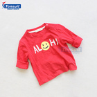 Custom printed long sleeve kids t shirt autumn winter children wear wholesale baby boys clothes fashion t shirts