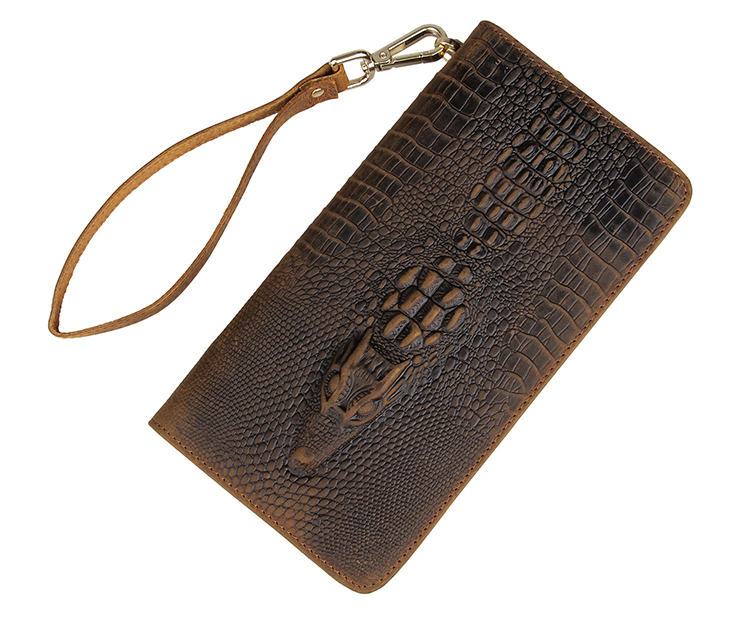Carzy Horse Leather Crocodile Pattern Men Clutch Bag Factory Directly Wholesale #8068R