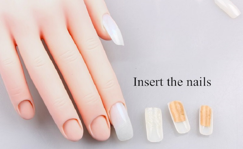 Display DIY nail art training hands manicure nail practice hand for nails