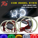 106MM COB LED Multi-colored Angel Eyes 131MM Universal Fit LED Halo Rings For E90 Non Projector