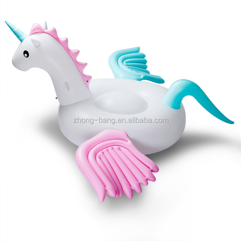 Pink and blue wings giant inflatable horse unicorn