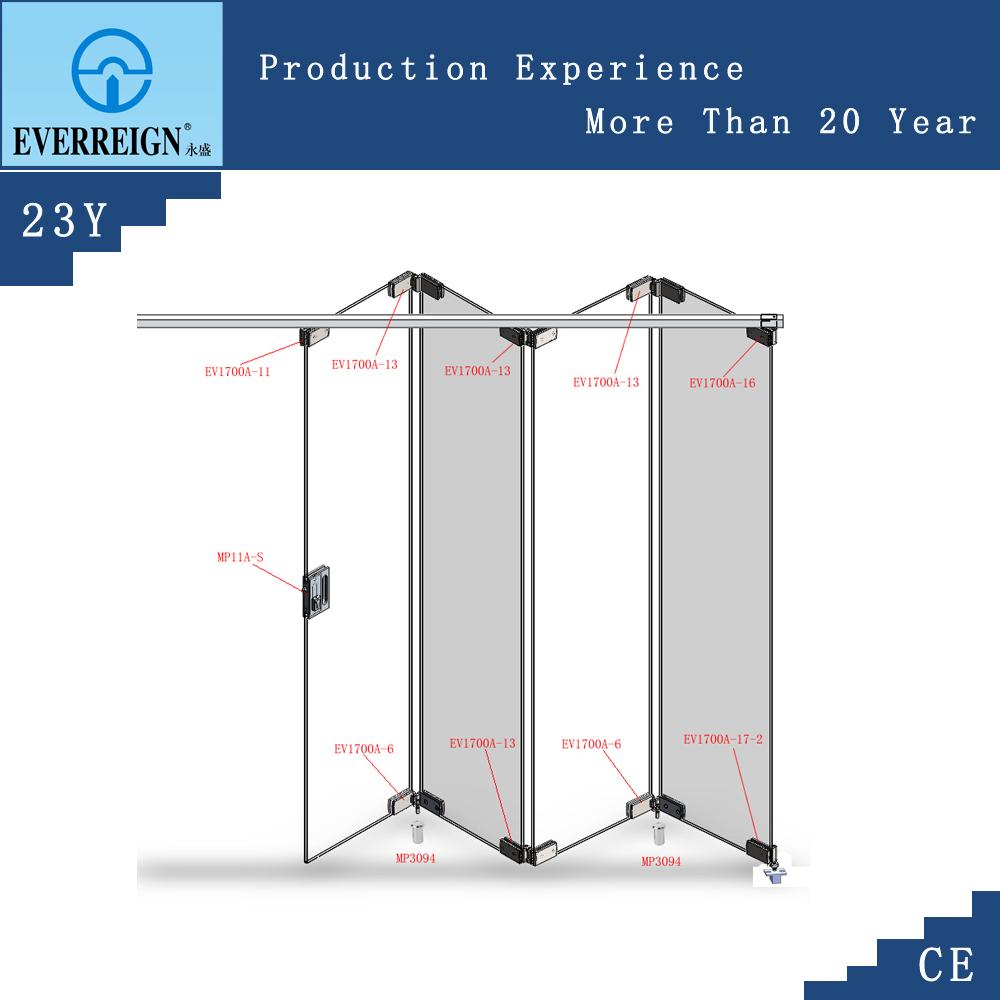 Puerta plegable de vidrio puertas identificaci n del for Puerta plegable con cerradura