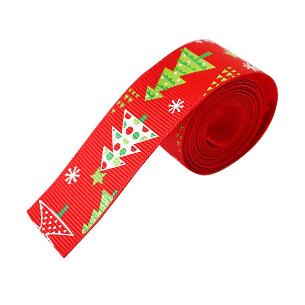 Da.Wa Christmas Tree Grosgrain Ribbon Gift Wrapping Wired Stain Ribbon Christmas Tree Decor