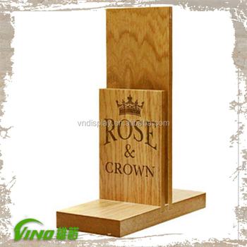 Custom Wood Table Stand Menu Holder Leaflet Holder Menu Stand Buy Table Stand Menu Holderleaflet Holdermenu Stand Product On Alibabacom