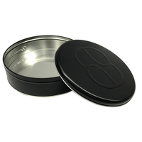 Round Matt Black Metal Tins Cookies Metal boxes