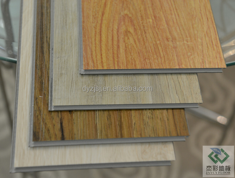 Dark Color Realistic Wood Effect Interlocking Pvc Floor