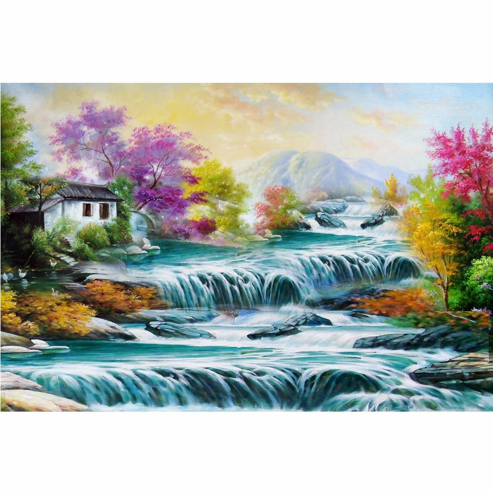 Klasik Eropa Lukisan Pemandangan Pedesaan Muras Wallpaper Produsen