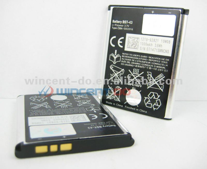 Battery BST-43 BST43 for Sony Ericsson Yari Elm U100i