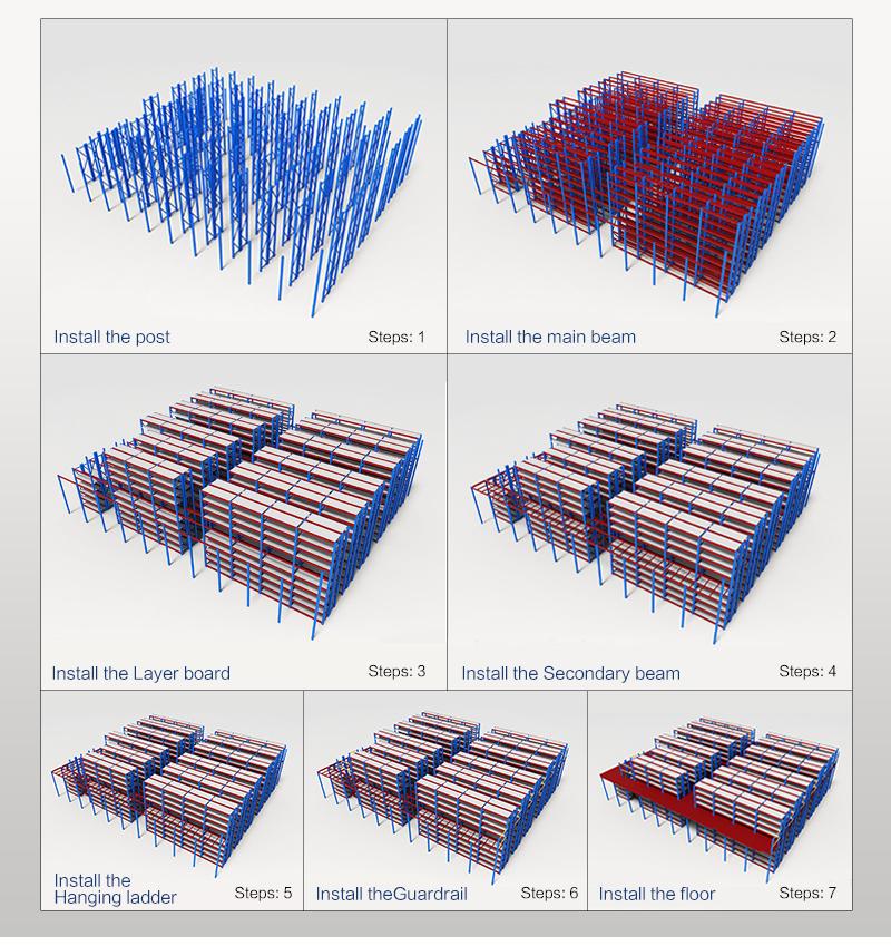 Industrial Heavy Loading High Storage Steel Drive-in Rack