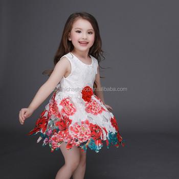 Neueste Kinder Partei Tragen Kleider Für Mädchen Geschwollene ...