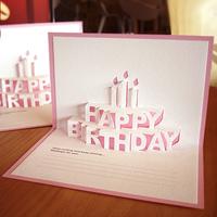 3D Happy birthday Letter greeting invitation card