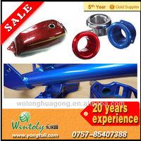 Metallic powder coating motorcycle parts paint