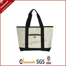 black and white nylon shopping bags