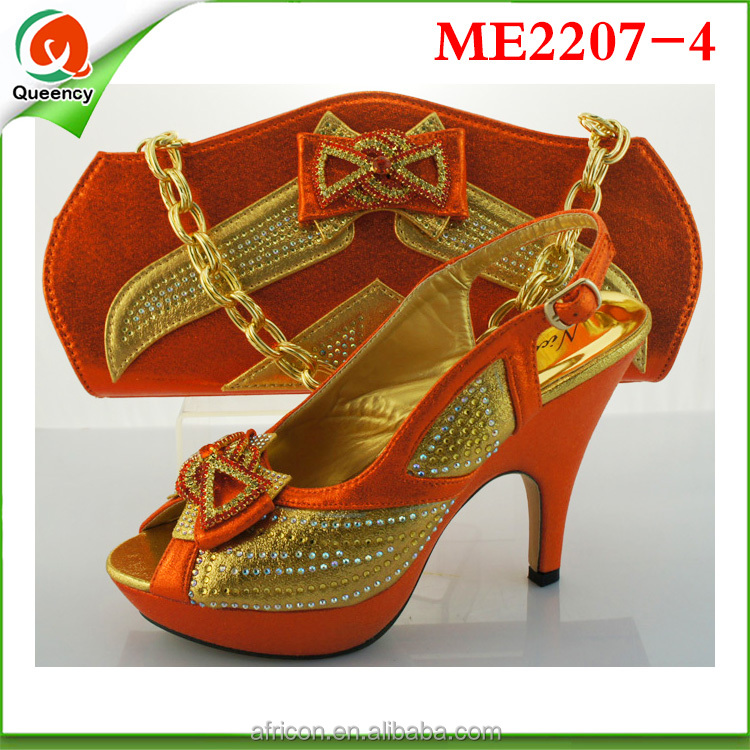 gorgeous orange new ang ME2207 Italian shoes arrivals bags 4 ladies 2016 v7dwEqE