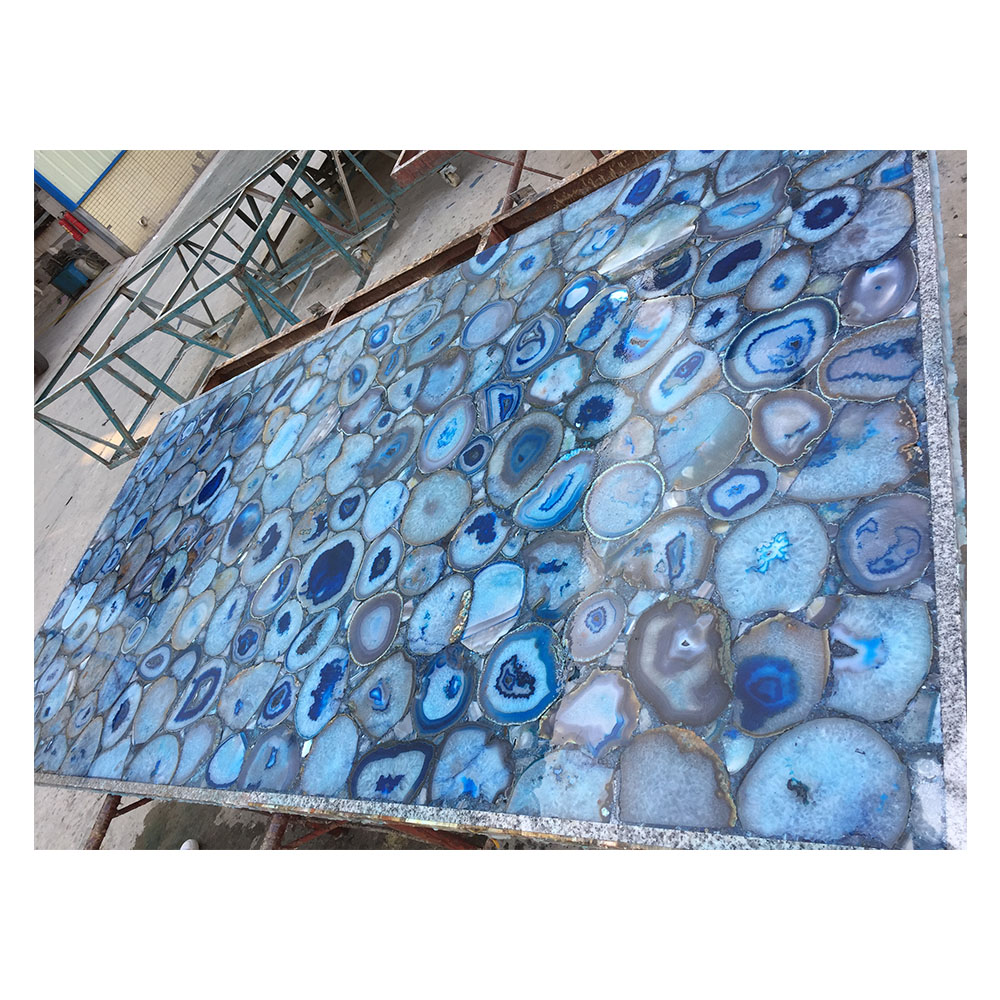 Natural Agate Stone Blue Tile