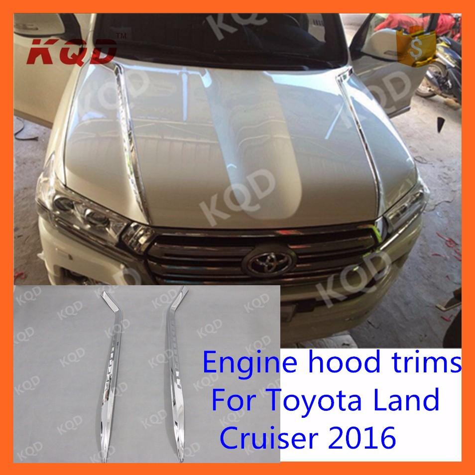 Chrome Fog Light Cover For Toyota Land Cruiser 2016