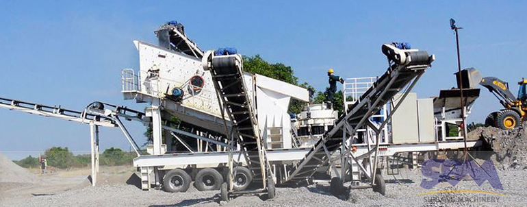 Complete production line portable rock crusher