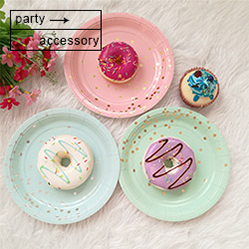 New Creative Flocking Acrylic Five - pointed Star Laser Swoosh Macaron Cake Decoration Card Cake Topper For Party Layout