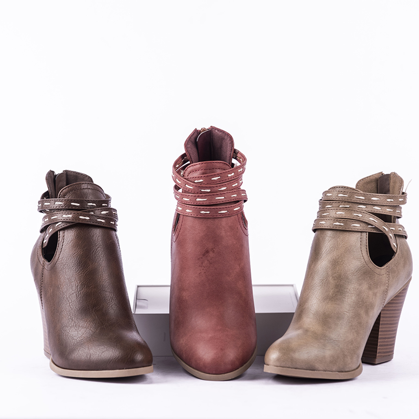 Top selling pu leather wholesale  fashion shoes ladies heels women boots