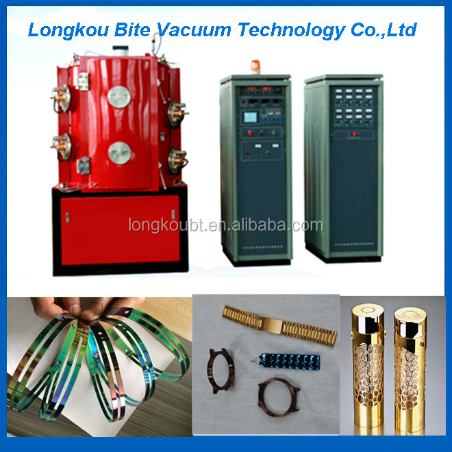 zinc alloy door handles nickel chrome plating equipment / furniture handle pvd coating machine