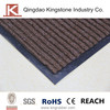 PVC backed polyester anti-slip door mat for shoes cleaning