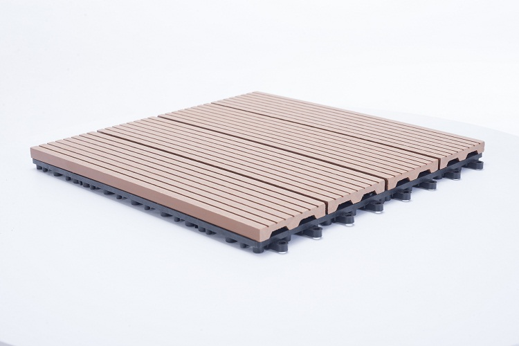 Lyw Professional Manufacturer Wpc Tile Floor Wood Plastic