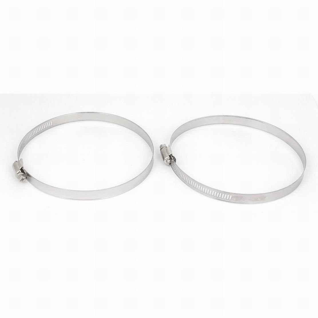 Ucland 120mm to 140mm Range Stainless Steel Hose Pipe Clamp Hoop 2pcs