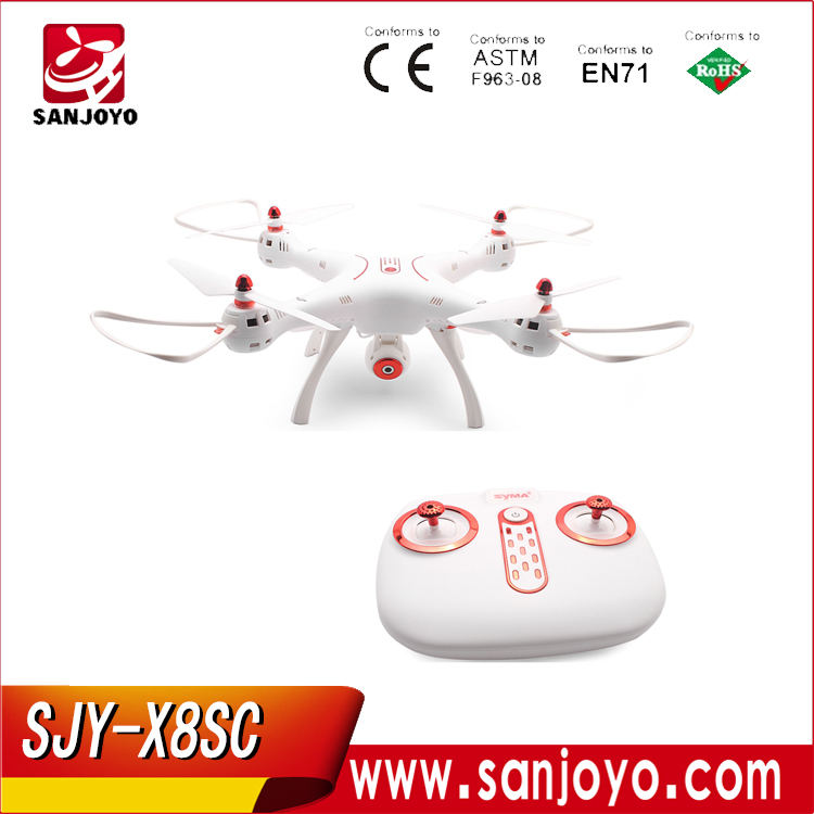 Original Syma X8SC RC Drone with 2MP Camera Air Press Altitude Hold/Headless Mode with LED Light PK Syma X8SW SJY-X8SC