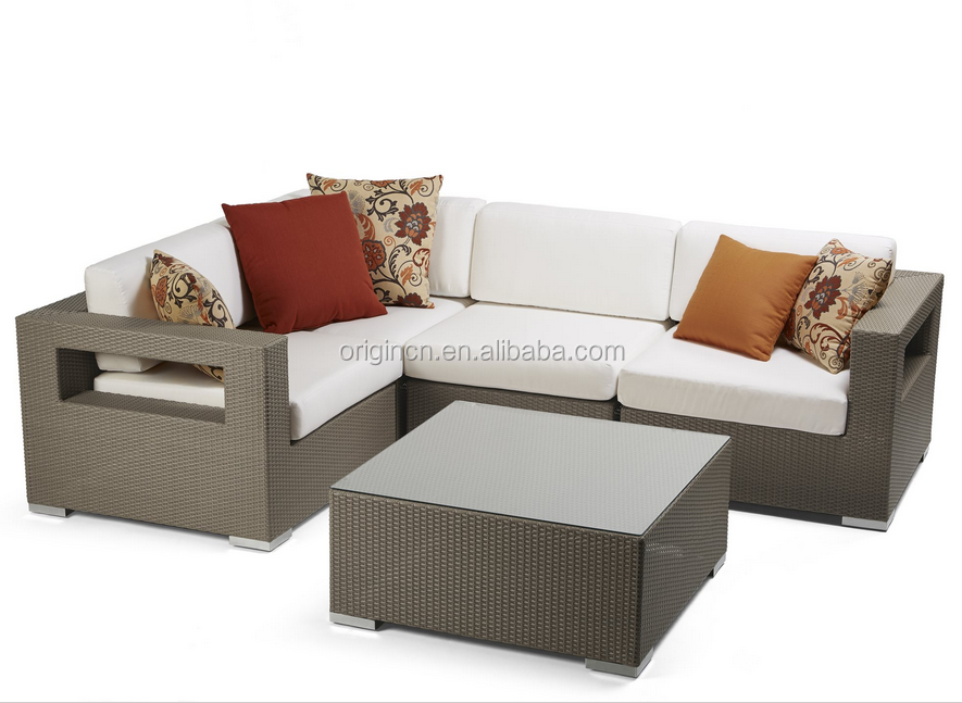 4 seater viro wicker indoor or outdoor corner sectional sofa set rattan china modern furniture