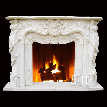 Hand Carved Home Decorative palace large marble fireplace mantel