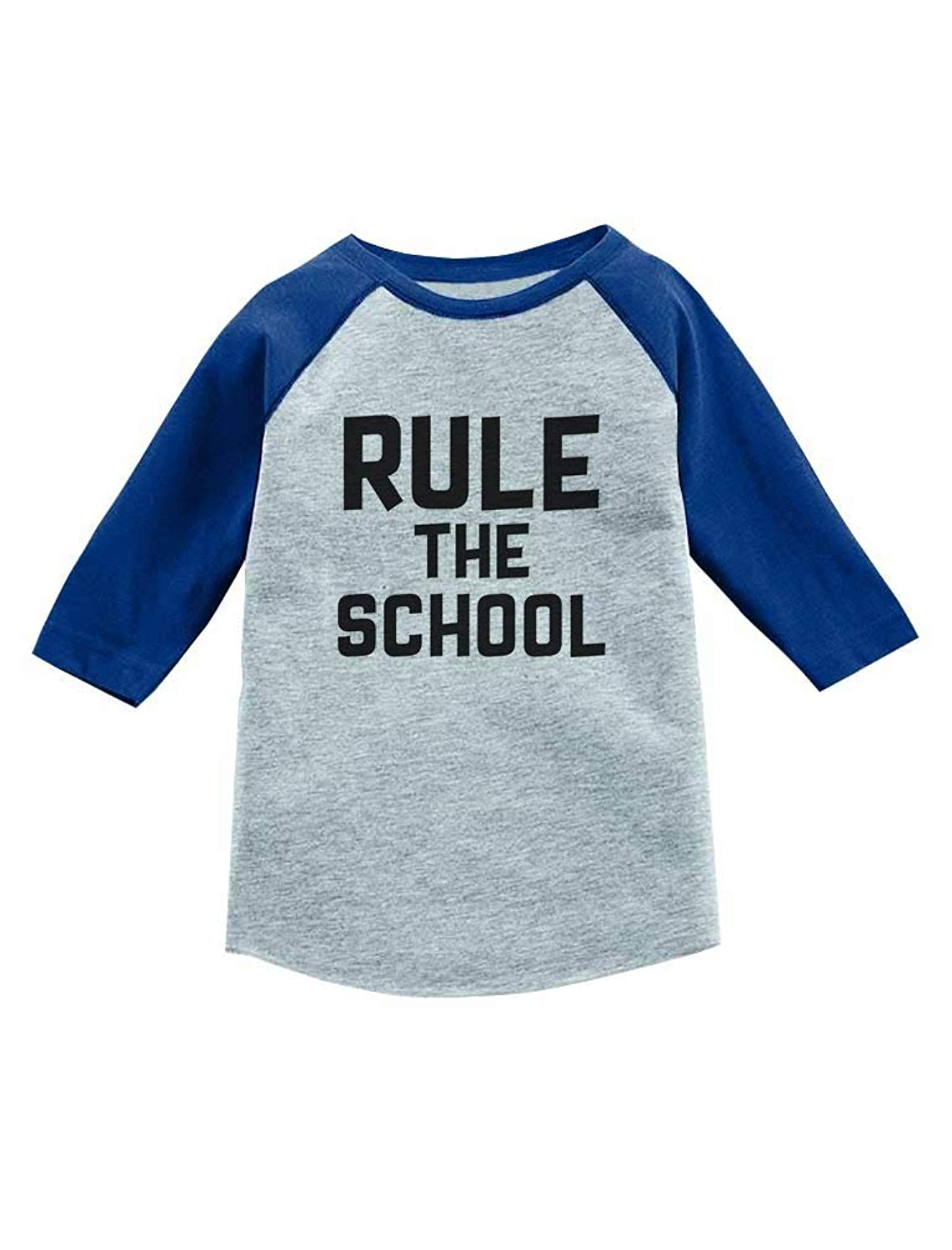 81c2c3268 Get Quotations · Rule The School Funny Back to School 3/4 Sleeve Baseball  Jersey Toddler Shirt
