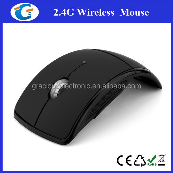 Fashion new design useful ace-pad flat wireless custom computer mouse