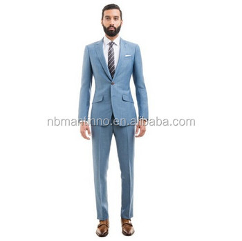 Light Blue Slim Fit Men Suit - Buy Coat Pant Men Suit,Suit For Man ...