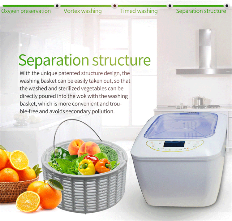 Wholesale Ultrasonic Cleaners Ultrasonic and Ozone Vegetable & Fruit Sterilizer