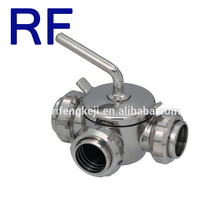 RF Sanitary Stainless Steel Plug Valve for gas and oil hand operated