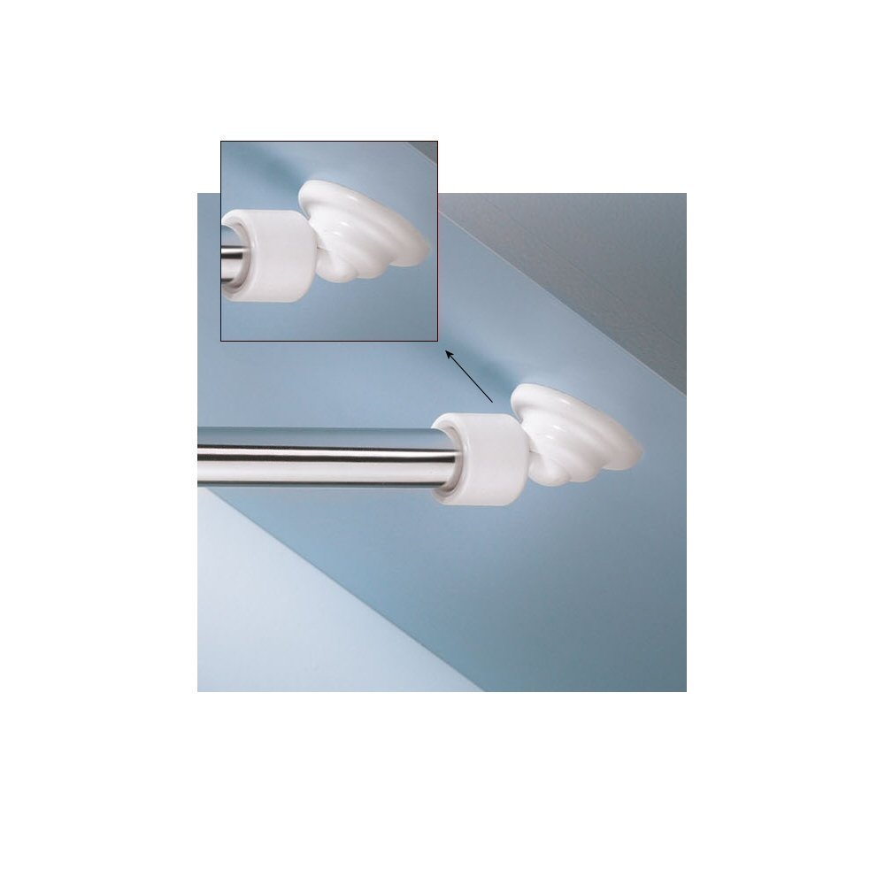 Get Quotations · Angled Shower Rod Mount For Sloped Walls   Low Cost  Solution