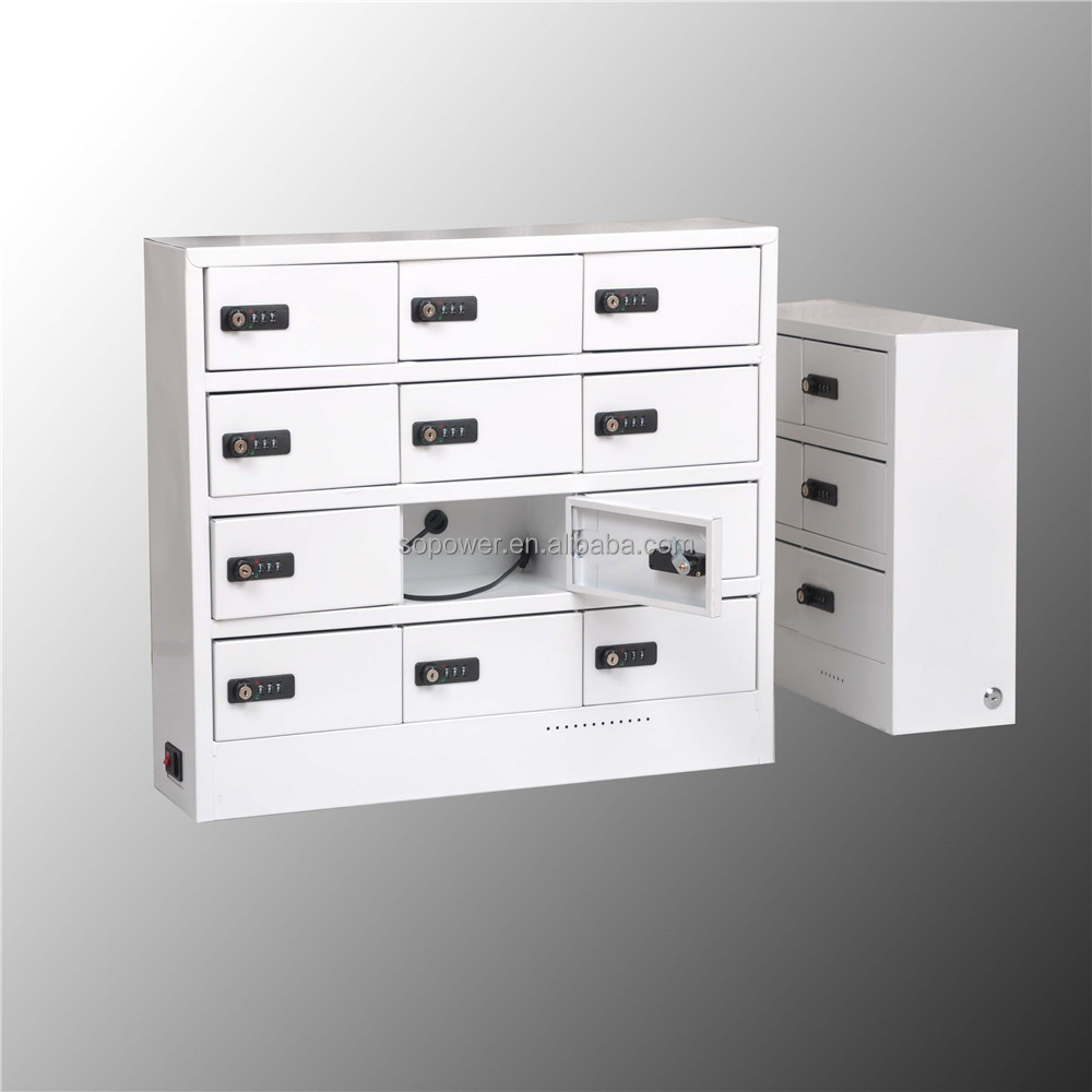 Locker Cabinet Multiple Cell Phone Charging Station With Outlet Inside