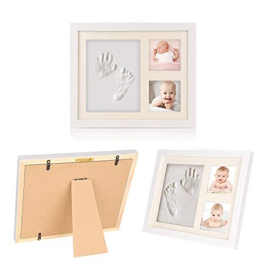 Natural CLAY KEEPSAKE /& PHOTO DESKTOP FRAME KIT Child Hand Footprint Impression