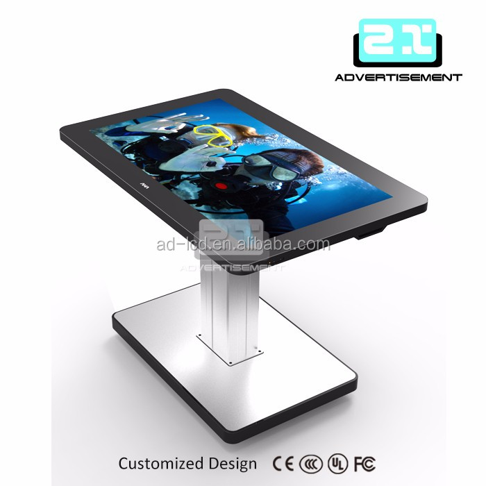 customized kiosk lcd monitor usb media player 40 inch lcd panel 2k 4k lcd touch screen
