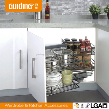 Pull Out Kitchen Cabinet Magic Corner Basket