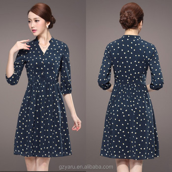 Korean Fashion Women Knee Length Dresses Casual & Official - Buy ...