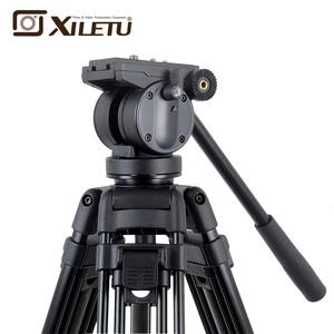 XILETU XA193M Professional Video Tripod Camera DSLR Camera Heavy Duty Tripod With Fluid Video Head